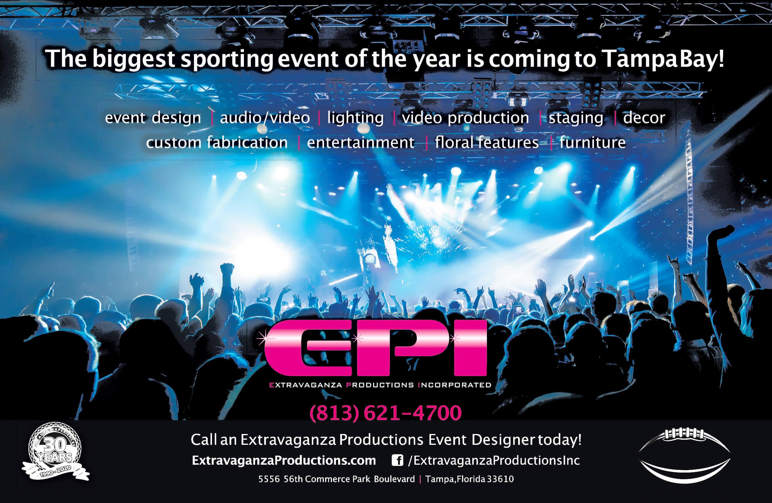 Superbowl Tampa Event Design