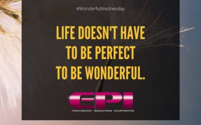 Wonderful Wednesday – Life Doesn't Have to Be Perfect